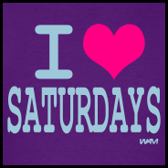 Purple-i-love-saturdays-by-wam-T-Shirts